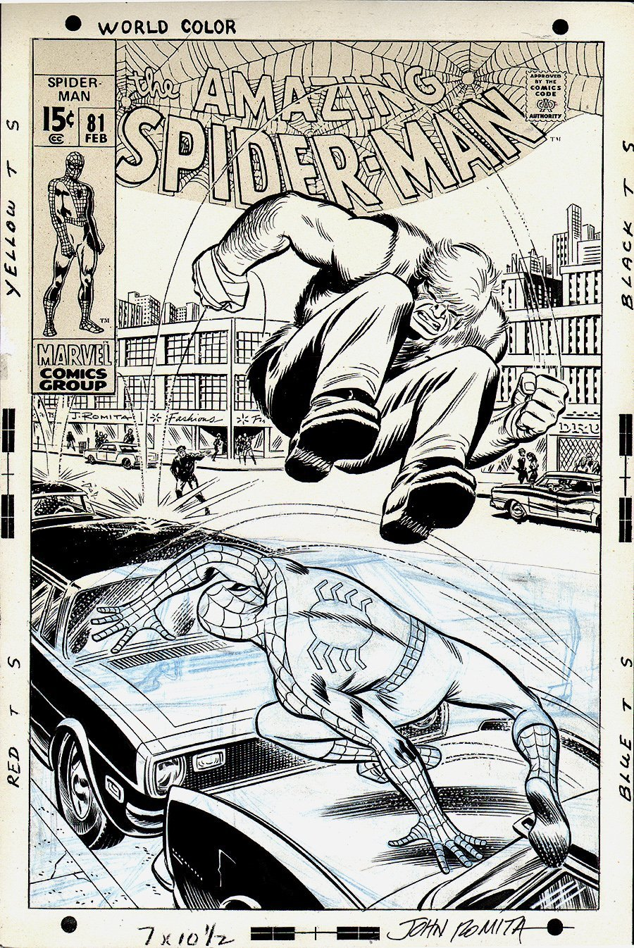 Amazing Spider-Man #81 Un-Published Cover (1969) SOLD SOLD SOLD!
