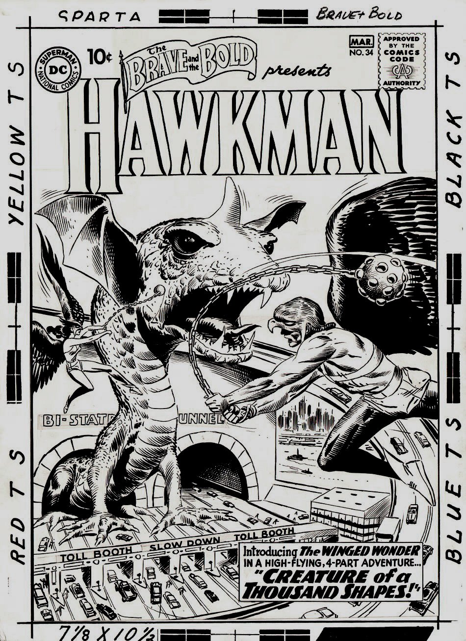 Brave and the Bold #34 Cover 'FIRST SILVER AGE HAWKMAN COVER' (Large Art) 1960