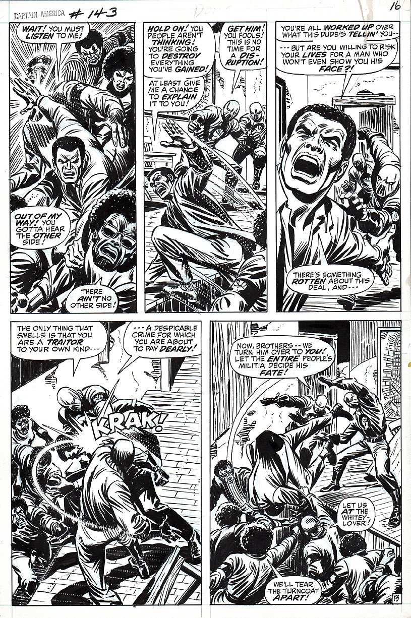 Captain America #143 p 13 (1971) SOLD SOLD SOLD!