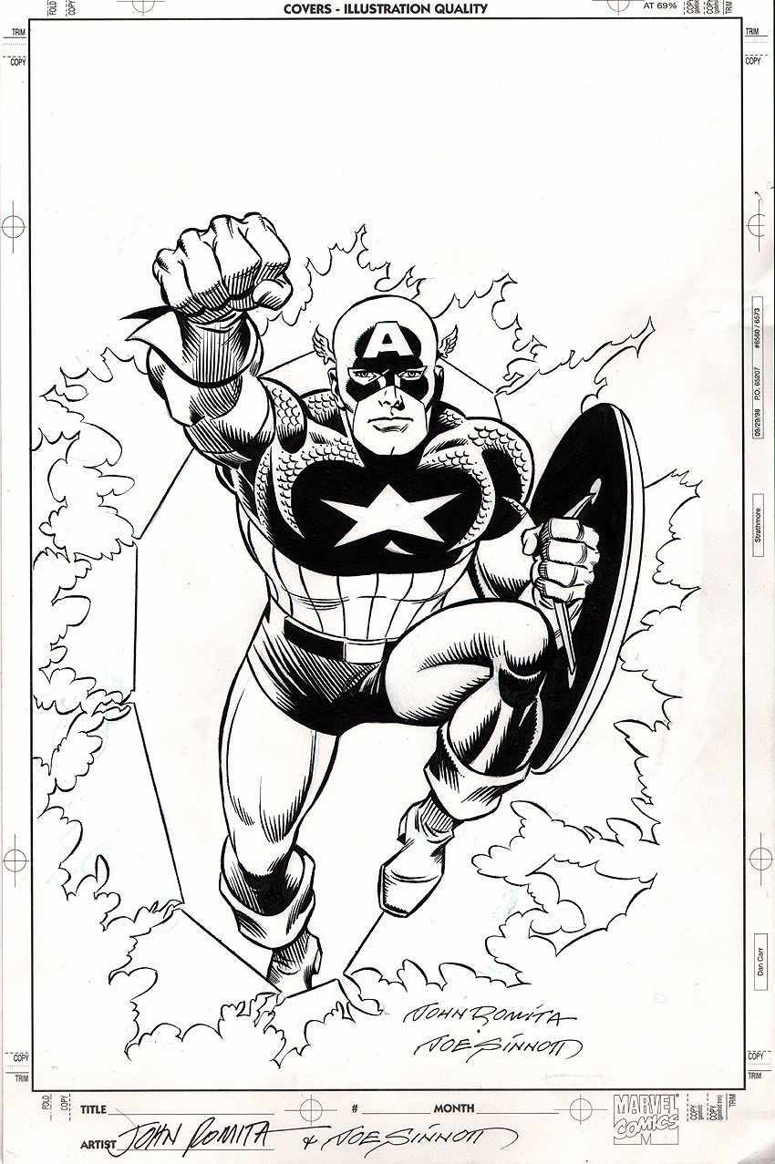 Captain America #1 Cover SOLD SOLD SOLD!
