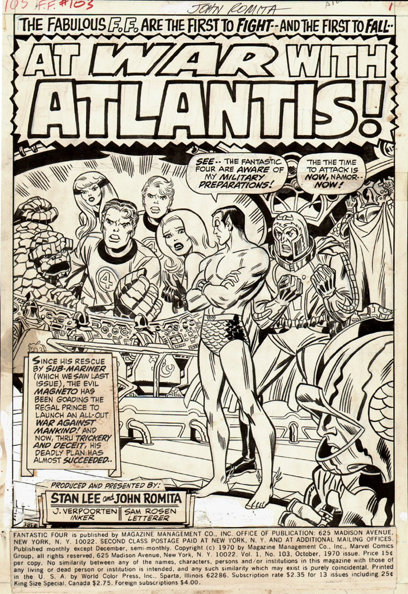 Fantastic Four #103 p 1 SPLASH (1970) SOLD SOLD SOLD!