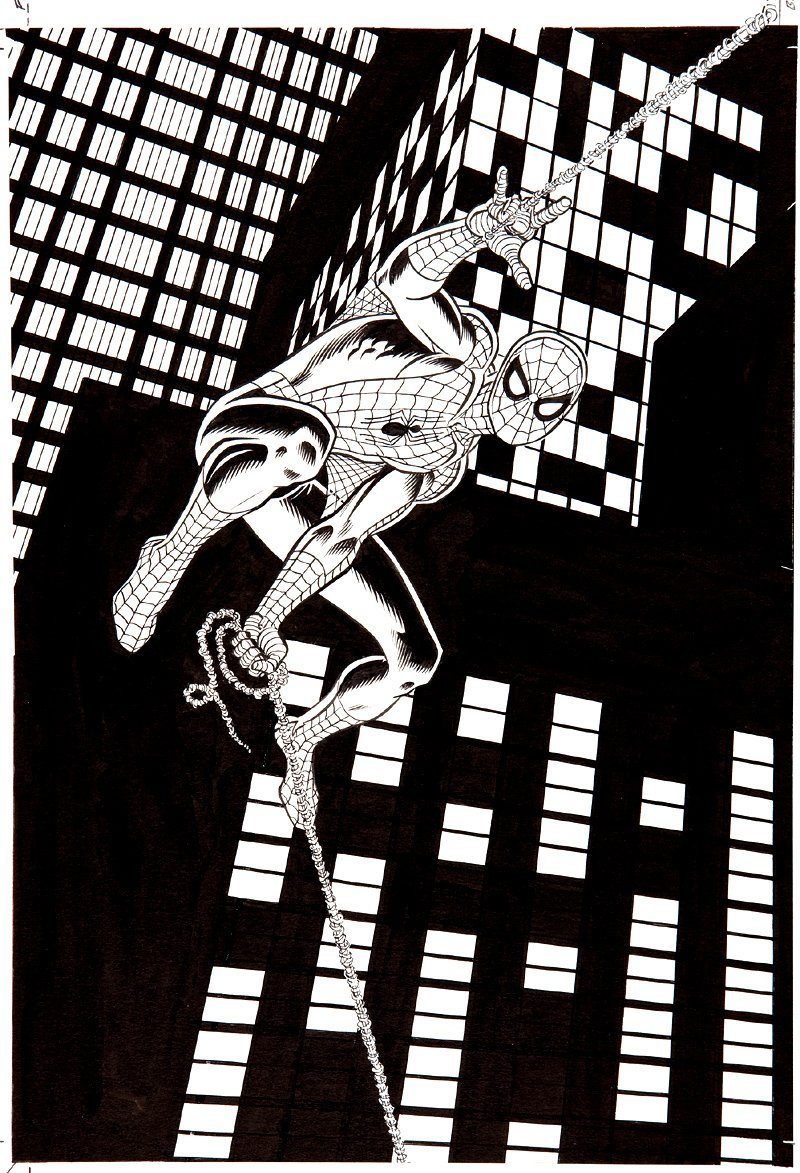 TV Guide Spider-Man Original Cover  Art SOLD SOLD SOLD!