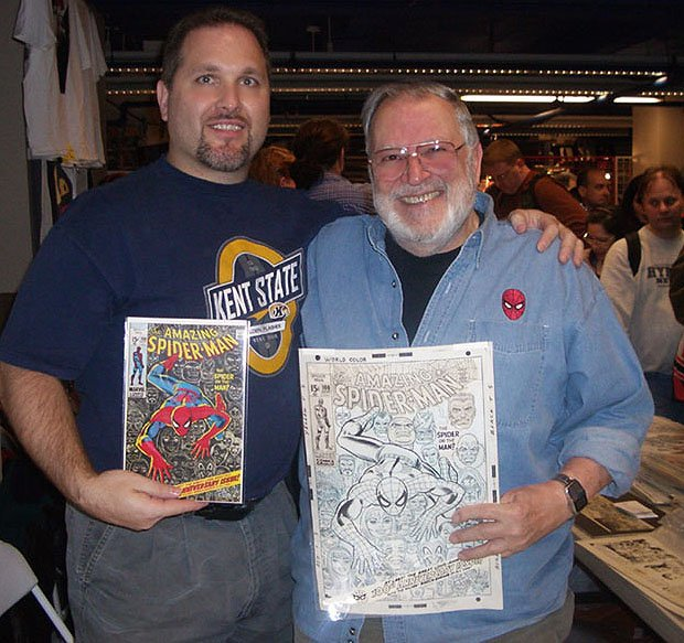John Romita & Myself With PUBLISHED ASM 100 Cover! (2006) SOLD SOLD SOLD!