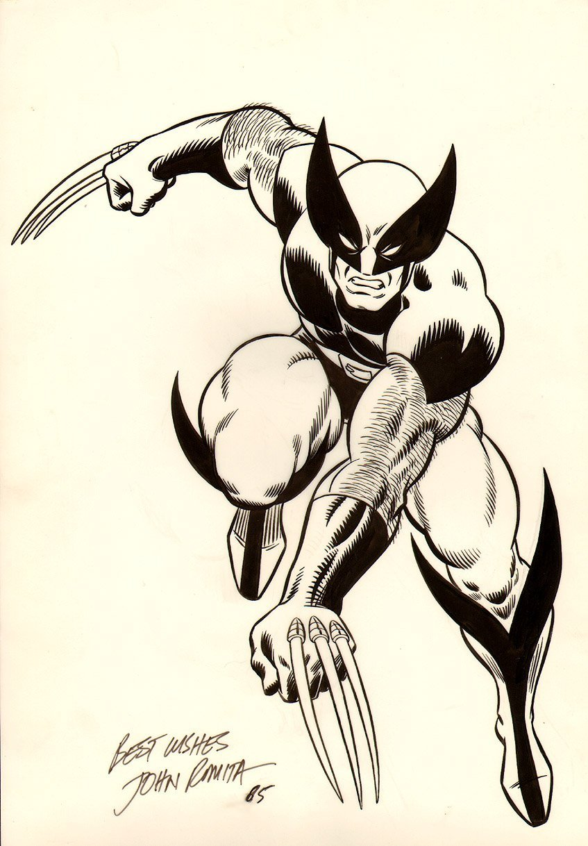WOLVERINE LARGE MERCHANDISING ART PINUP (1985) SOLD SOLD SOLD!