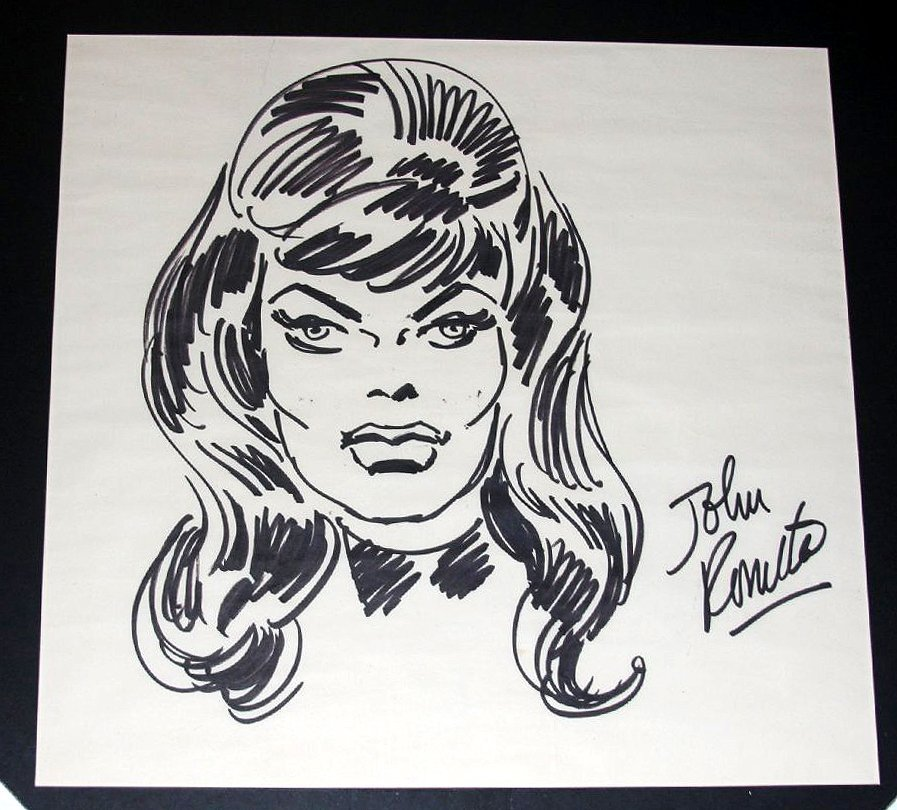 Black Widow Early Pinup (Large) SOLD SOLD SOLD!