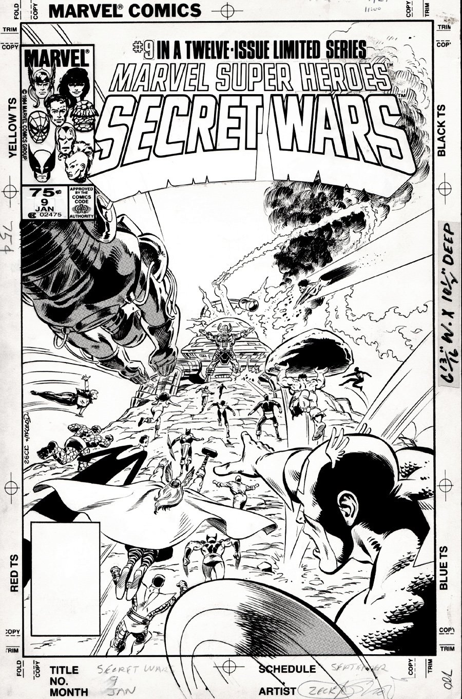 Marvel Super-Heroes Secret Wars #9 Cover (1984) SOLD SOLD SOLD!