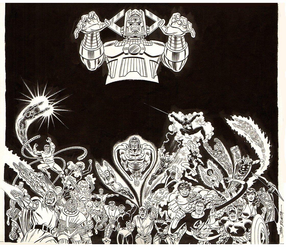 Marvel Secret Wars HUGE Promo Poster Art! (33 Heroes & Villains!) SOLD SOLD SOLD!
