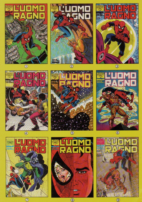 L'UOMO RAGNO #1-9 Covers