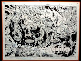Spider-Man #6 p 2-3 Double Spread Splash (Very Large) SOLD SOLD SOLD! Comic Art