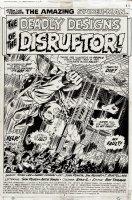 Amazing Spiderman Issue 117 Page 1 (SPLASH) 1972 Comic Art