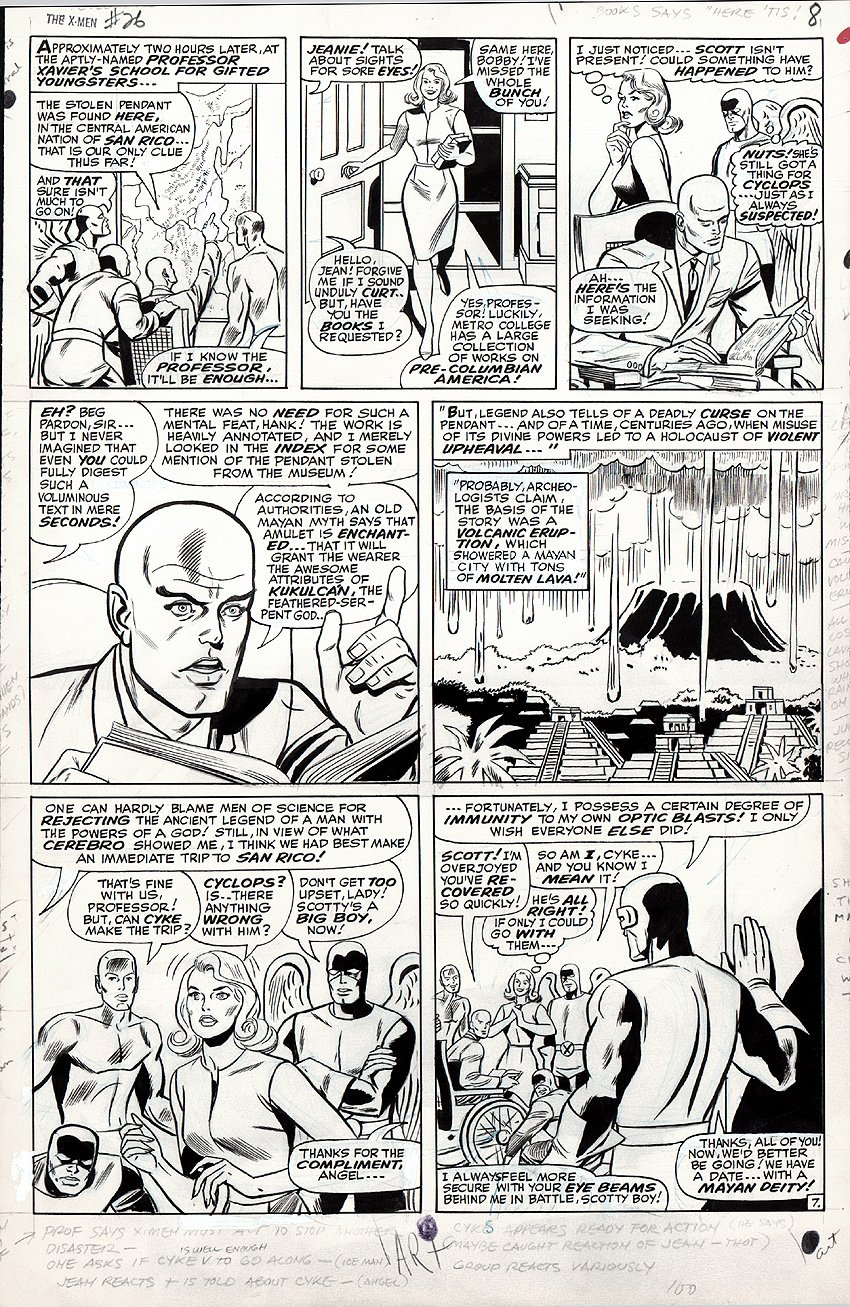 X-Men #26 p 7 (Large Art) 1966