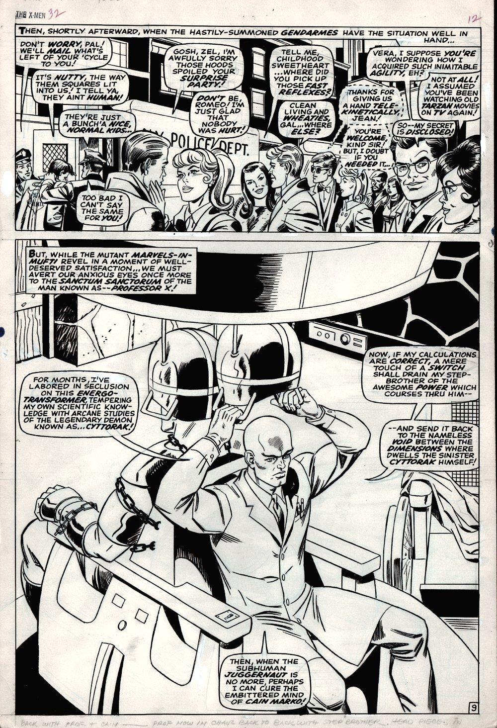 X-Men #32 p 9 SPLASH (LARGE ART) 1967