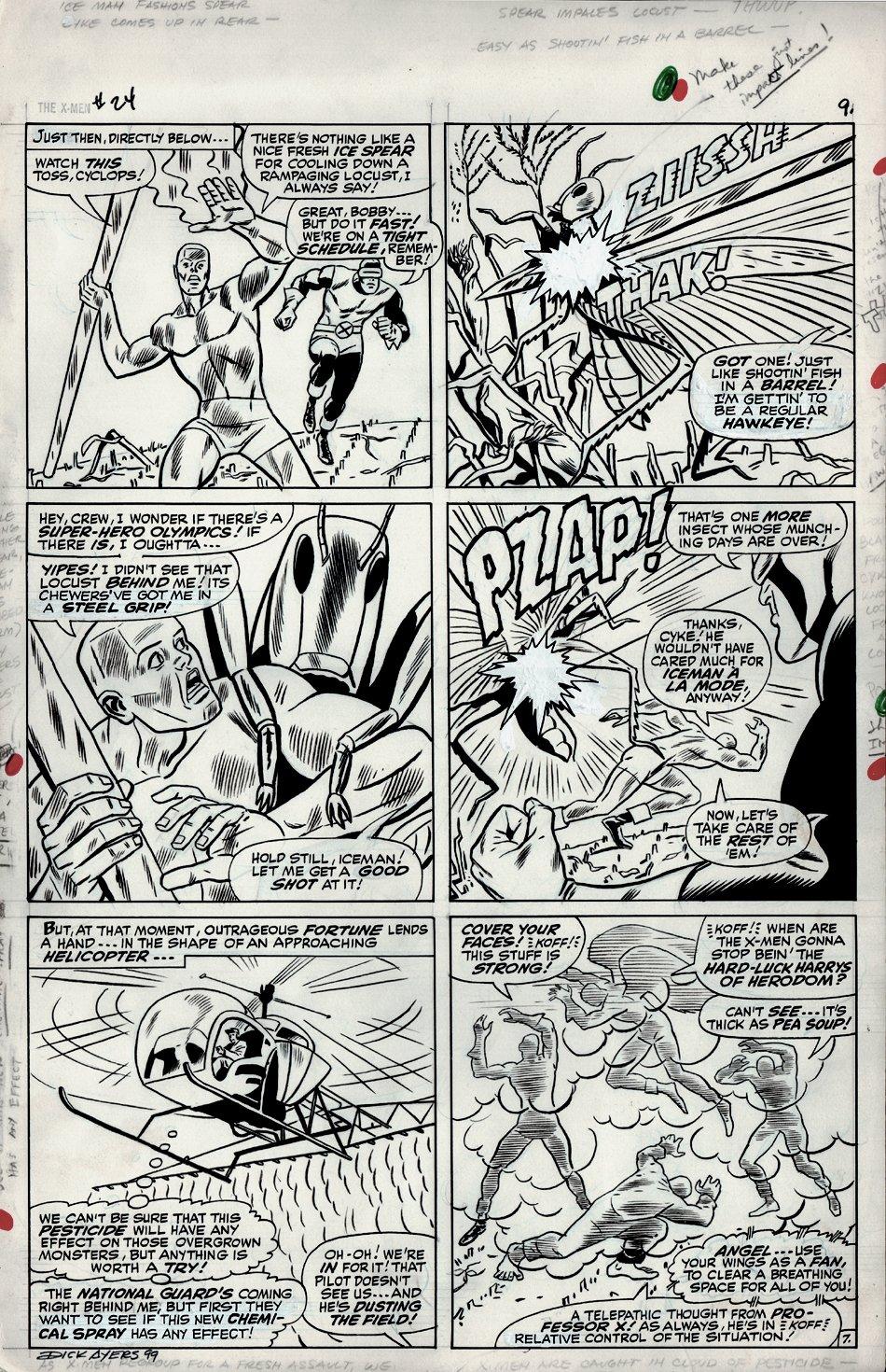 X-Men #24 p 7 (Large Art) 1966