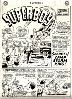 Superboy #117 p 1 SPLASH (Large Art, 2nd Story) 1964  Comic Art