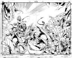 X-Men vs. The Brood #2 Wraparound Cover (1996)  Comic Art