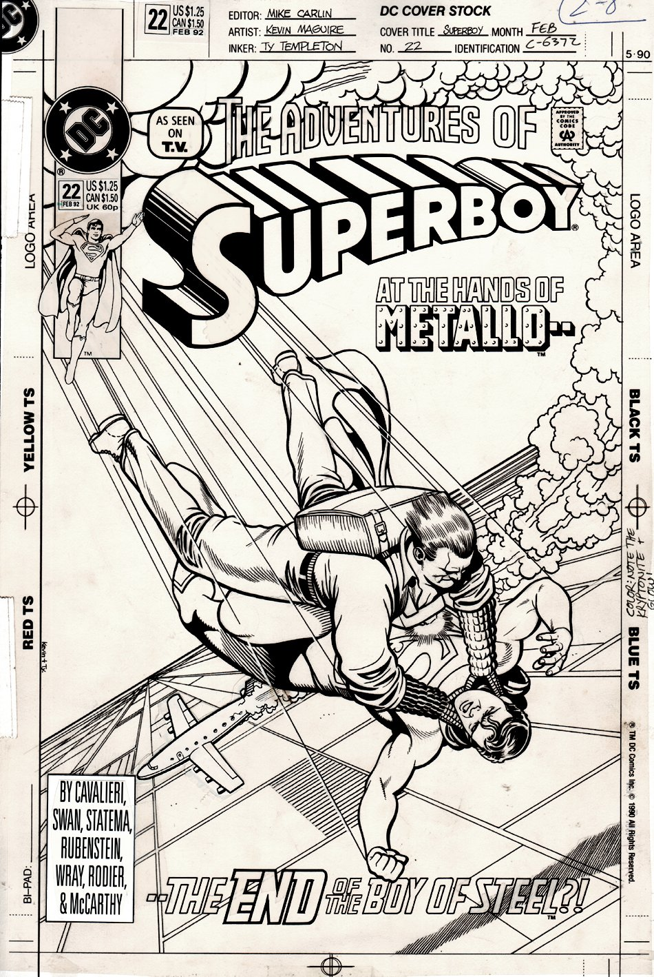 Adventures of Superboy #22 Cover (1991)