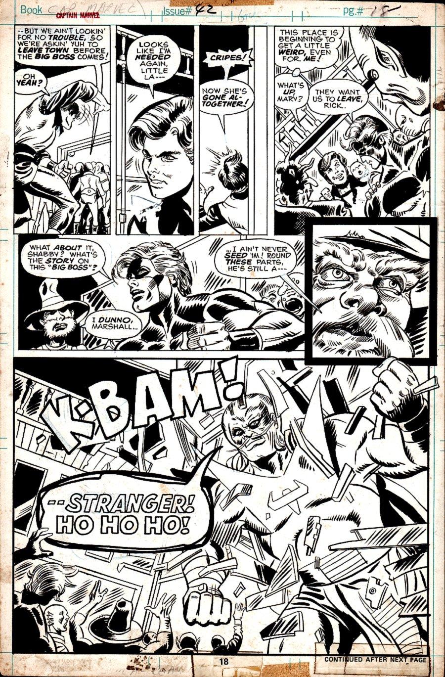 Captain Marvel #42 p 18 SPLASH (1975)