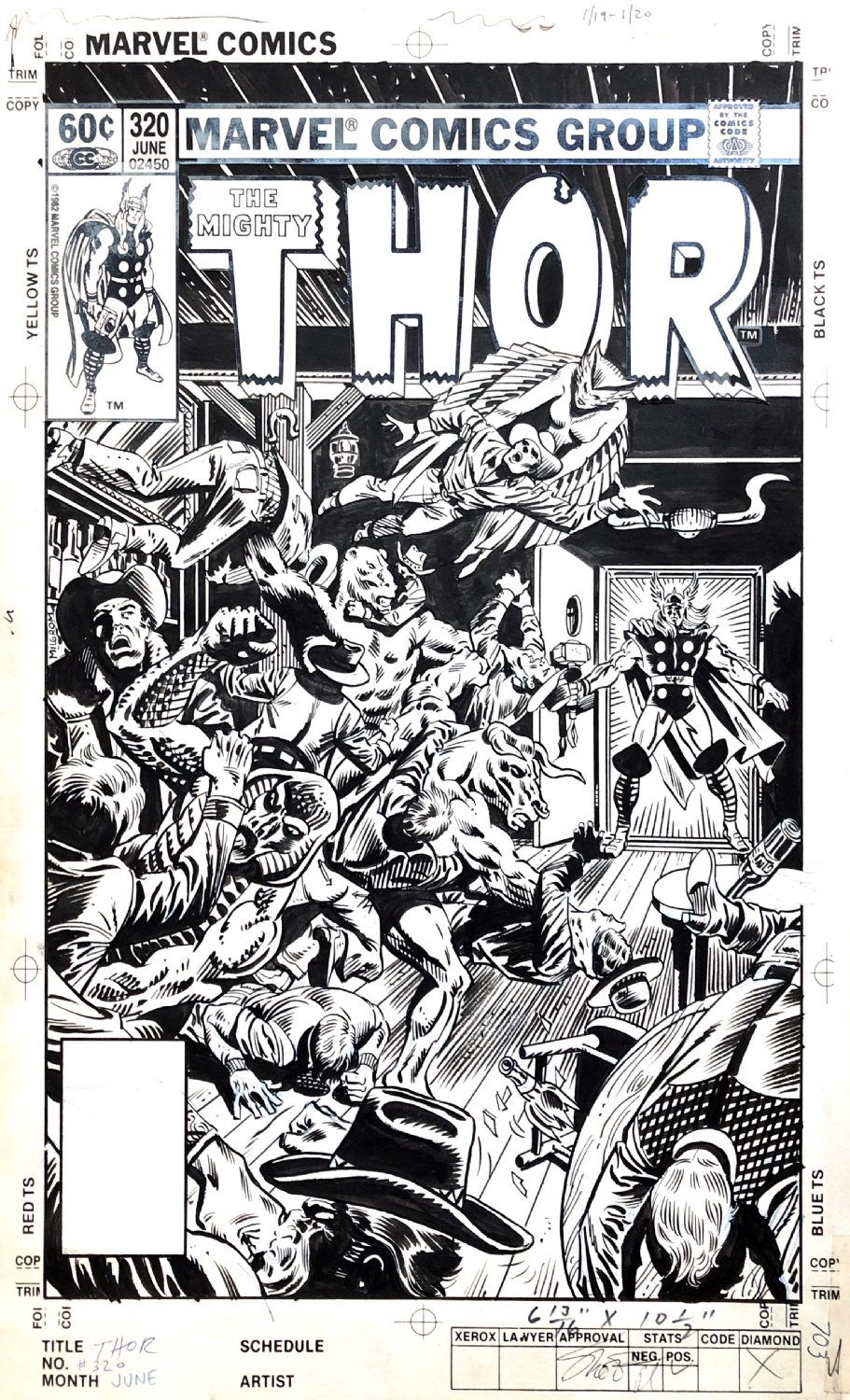 Thor #320 Cover (1982)