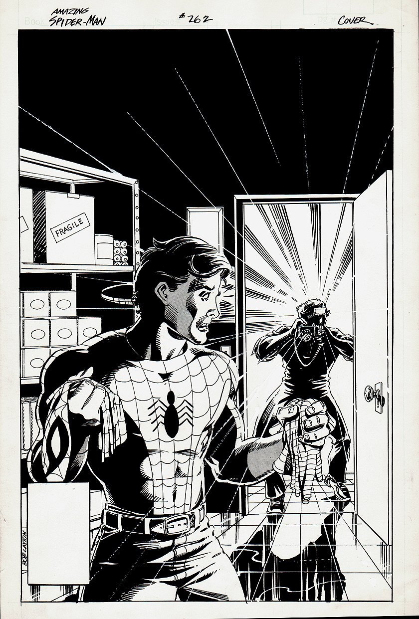 Amazing Spider-Man #262 Unpublished Cover (1984)