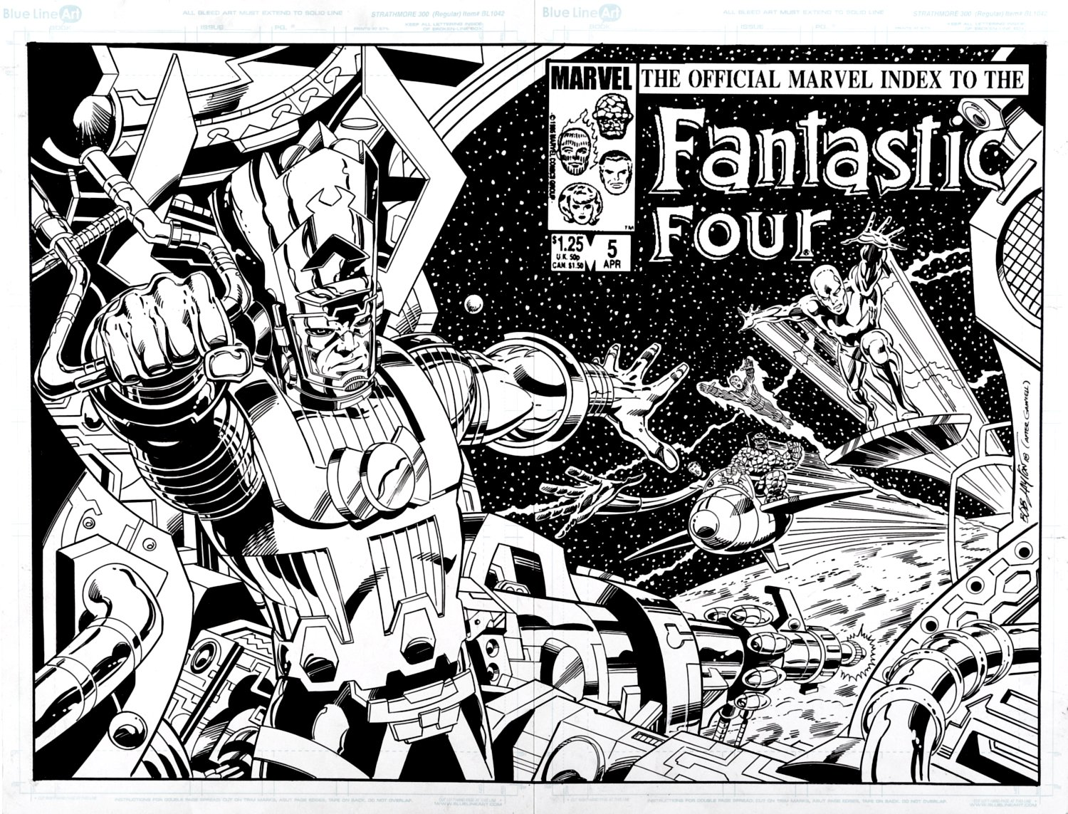 Official Marvel Index To The Fantastic Four #5, Galacatus & Silver Surfer! Wraparound Cover Recreation (2018)