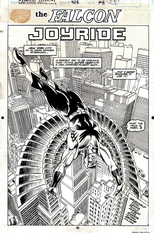Captain America #408 p 1 SPLASH (1992)