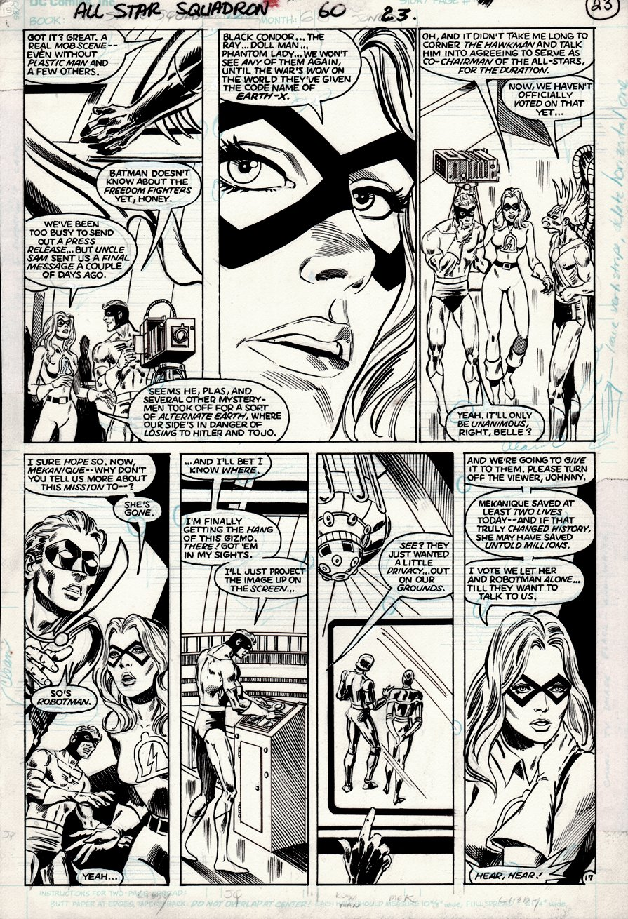 All-Star Squadron #60 p 17 (KEY CRISIS STORYLINE HERE!) 1986