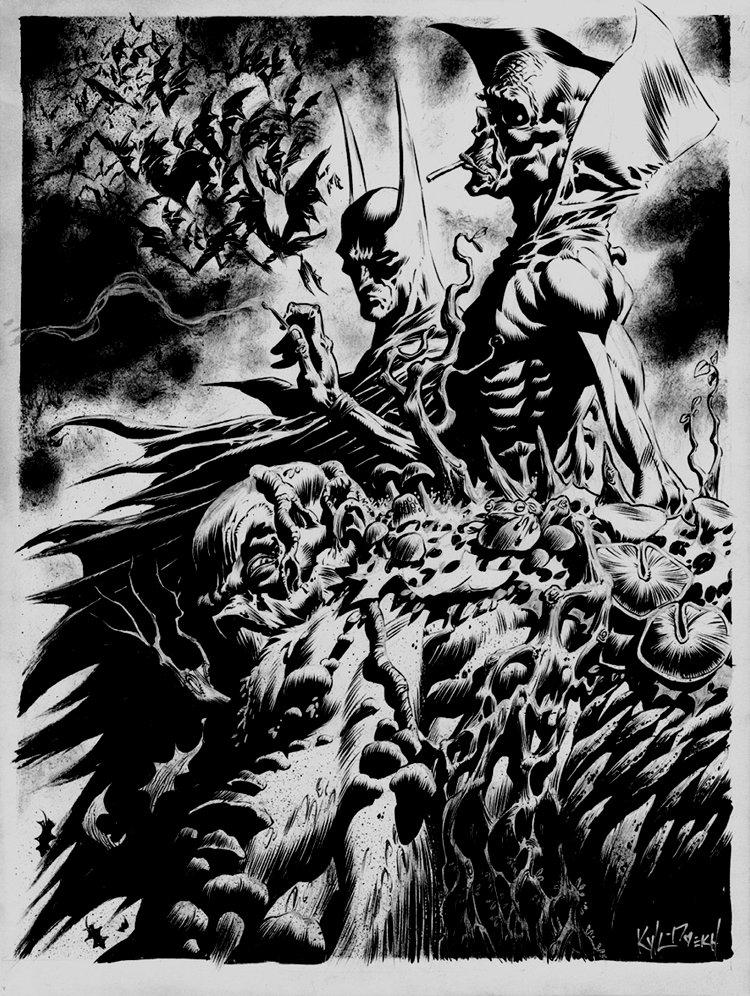 Batman, Deadman, Swamp Thing Detailed Pinup
