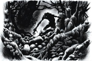 Supernatural: The Men Of Letters Bestiary, Double Page Splash Comic Art