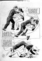 Black Cat #7 p 12 SPLASH (Large Art) 1947 Page k Comic Art