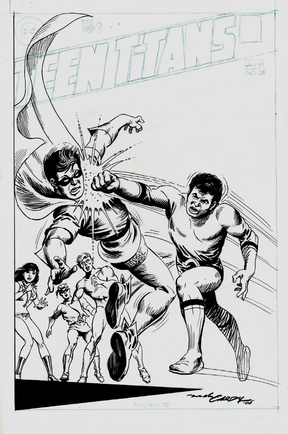 Teen Titans #28 Cover Recreation (2006)