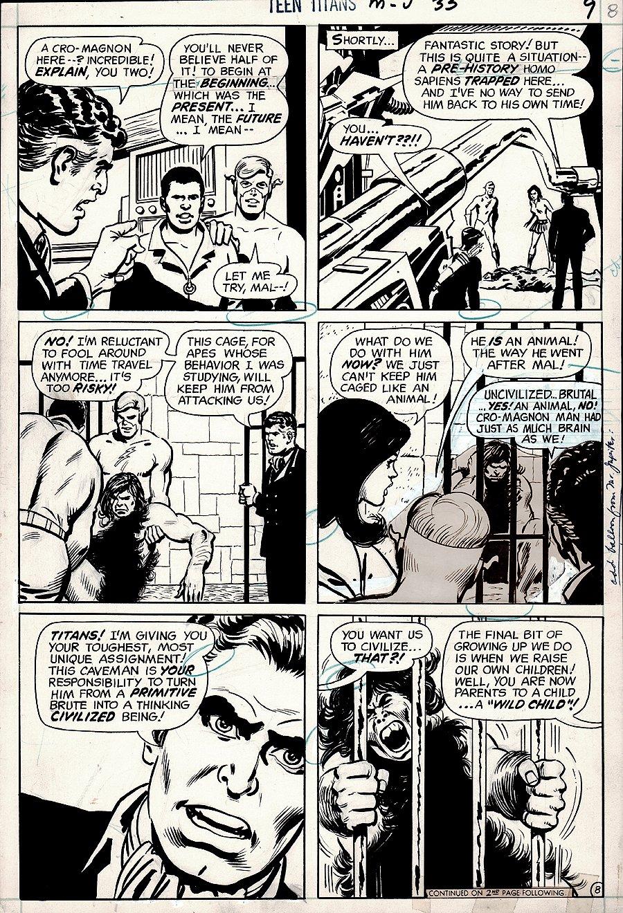 Teen Titans #33 p 8 (1970)