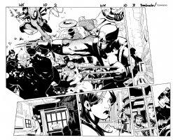 Wolverine & the X-Men Issue 10 Page 2-3 Double Spread Splash Comic Art