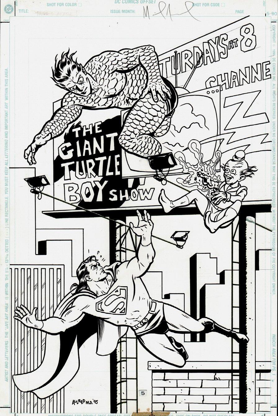 Superman: The Man of Steel Gallery #1 SPLASH (1995)