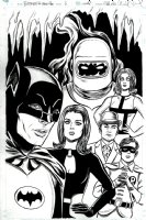 Batman '66 / Steed and Mrs Peel. #6 Cover  Comic Art