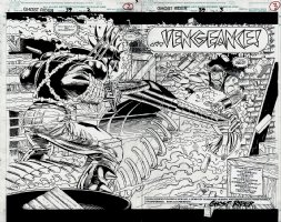 Ghost Rider #39 p 2-3 Double Spread Splash (1993) Comic Art