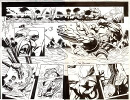 Incredible Hulk Issue 18 Page 2-3 Double Spread Splash (2000) Comic Art