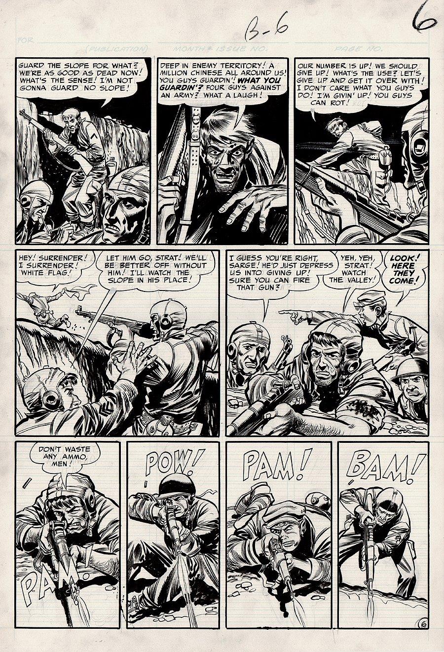Frontline Combat #2 p 6 (Large Art) 1951