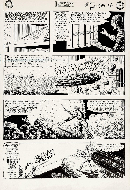 Hawkman #9 p 4 (Large Art) 1965