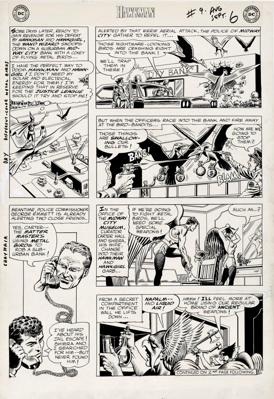 Hawkman #9 p 6 (Large Art) 1965