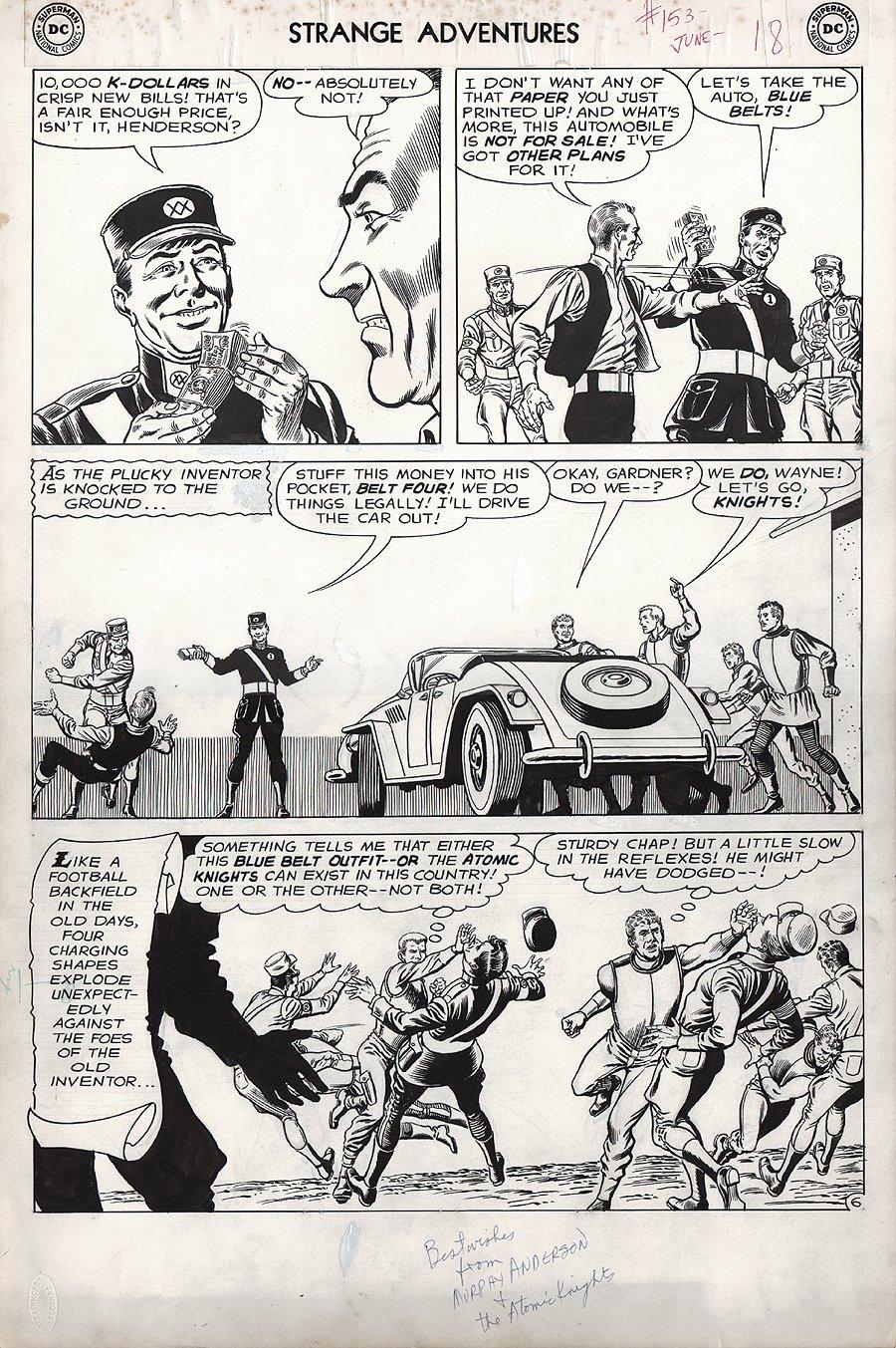 Strange Adventures #153 p 6 'Atomic Knights' (Large Art) 1963