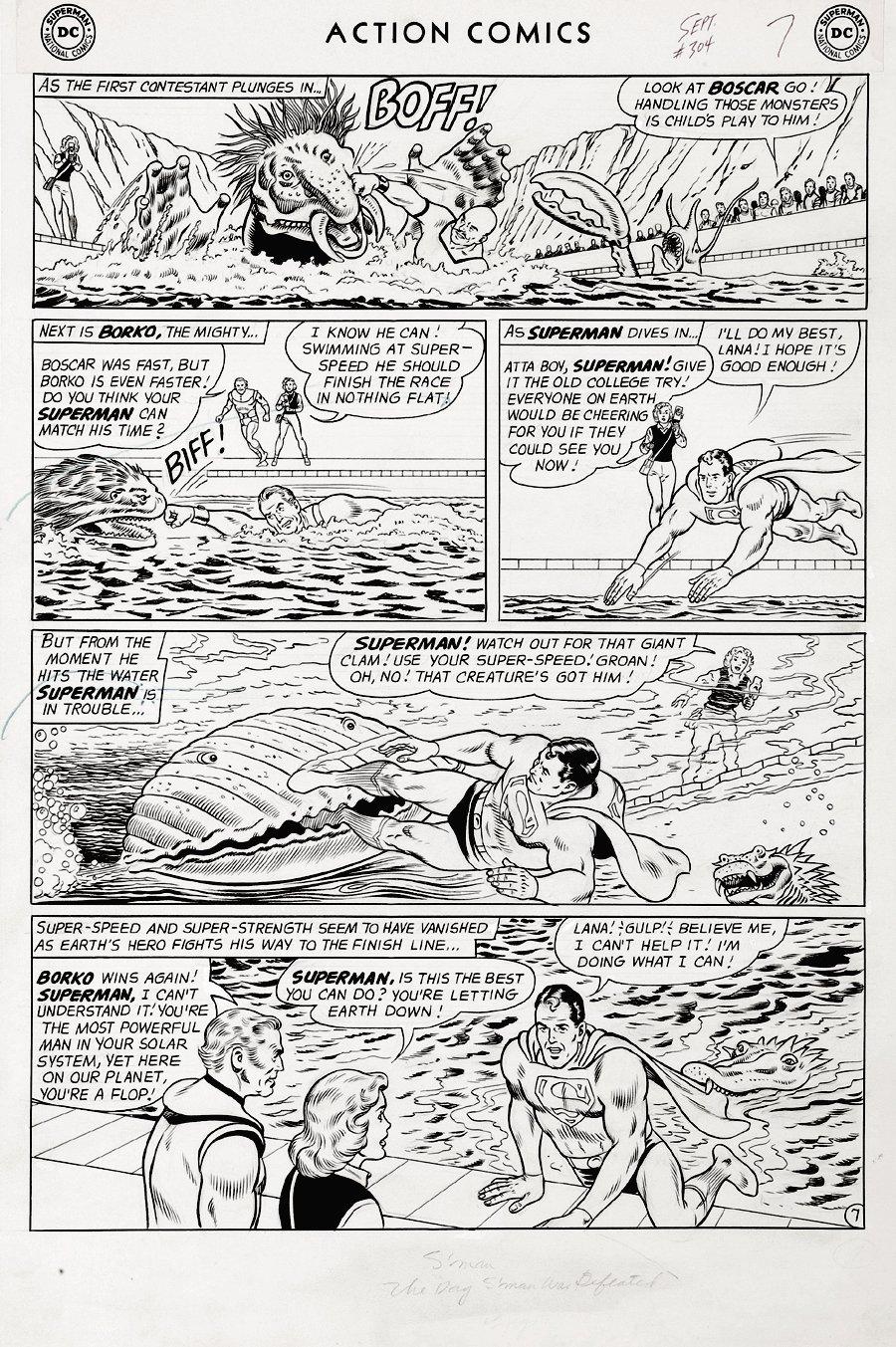 Action Comics #304 p 7 (Large Art) 1963