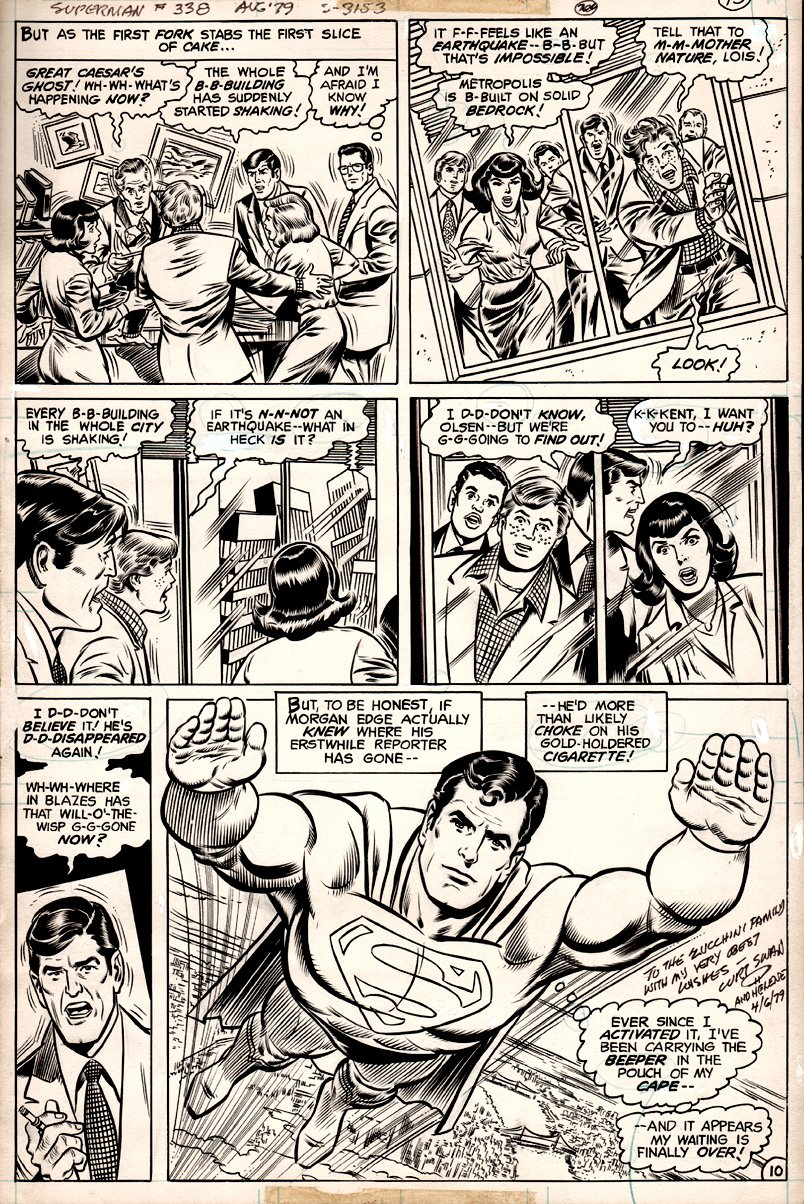 Superman #338 p 10 (CLASSIC SCENE!) 1979