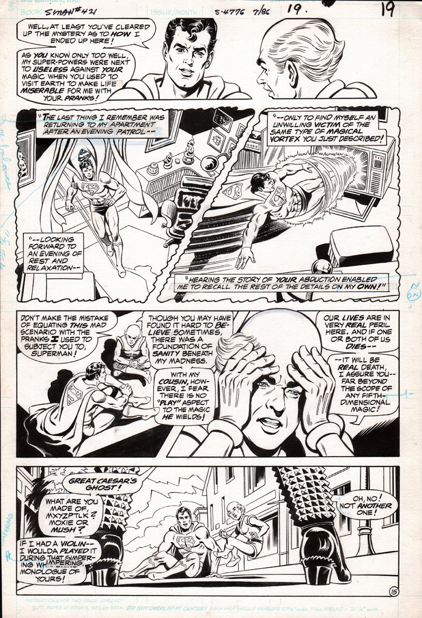 Superman #421 p 15 (SUPERMAN & MR. MXYZPTLK THROUGHOUT PAGE!) 1986