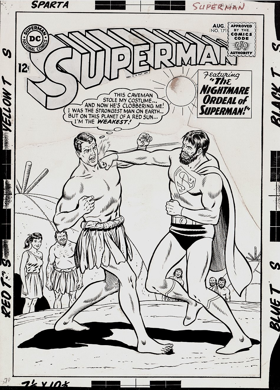 Superman #171 Cover (Large Art) 1964