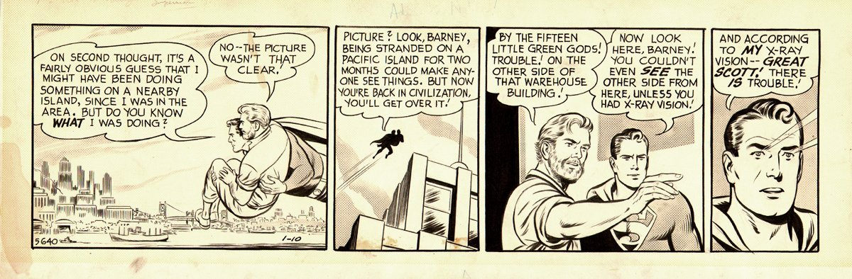 Superman Daily Strip 1-10-1958
