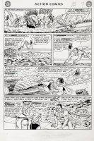 Action Comics #304 p 7 (Large Art) 1963 Comic Art