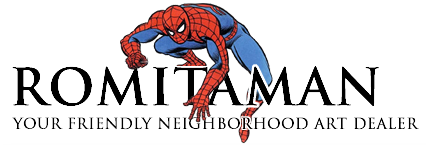 Romitaman Original Comic Book Art: Your Friendly Neighborhood Art Dealer